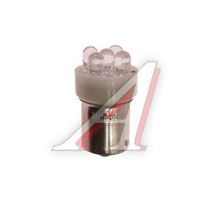 Лампа светодиодная 24VхR10W (Ba15s) белая 5 диодов МАЯК 24T15-W/5LED