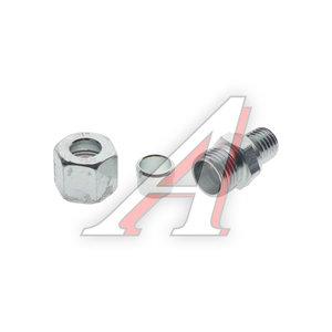 Штуцер соединительный прямой M12х10мм (фитинг резьбовой-гайка) сталь PE 07601420A, 8938000440