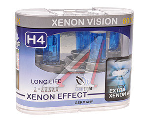 Лампа H4 12V 60/55W P43t Xenon Vision бокс (2шт.) CLEARLIGHT MLH4XV