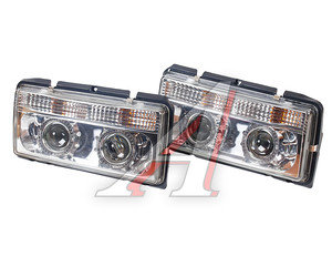 Фара блок ВАЗ-2105,2107 моноблок,ангельские глазки,хром комплект PRO SPORT RS-03822, 2105-3711010-10