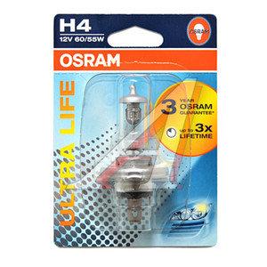 Лампа H4 12V 60/55W P43t-38 блистер Ultra Life OSRAM 64193ULT-01B, O-64193ULTбл