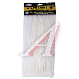 Хомут-стяжка 200х4.8 пластик белый (100шт.) FK SPORTS NCT-4820W