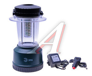 Фонарь 24 светодиода GREEN 23см для кемпинга с аккумулятором 12V-220V ЭРА KA16M, ER-KA16M