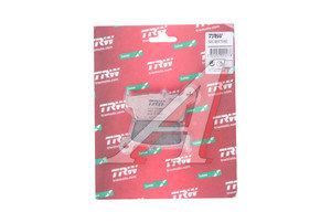 Колодки тормозные мото SUZUKI DR-Z400S/SM (WVBC/WVB8) (00-07) задние (2шт.) TRW MCB575SI