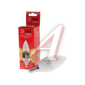Лампа светодиодная E14 B35 6W (40W) теплый ЭРА ЭРА LED smd B35-6w-827-E14 ECO, ER-LED146-2K, ЭРА LED smd B35-6w-827-E14 ECO (10/100/3500)