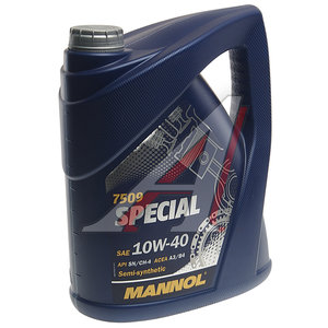Масло моторное SPECIAL п/синт.5л MANNOL MANNOL SAE10W40, 1181