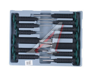 Набор бородков, зубил с безопасными виброзащищенными ручками 13 предметов FORCE F-5139