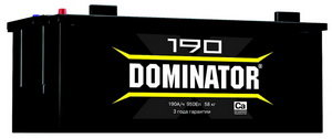 Аккумулятор DOMINATOR 190А/ч 6СТ190з, 83032