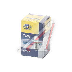 Лампа 24Vх4W (BA9s T4W) габарит передний HELLA 8GP002067241, O-3930, 1987302512