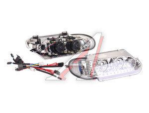 Фара блок ВАЗ-2113-2115 PRO SPORT стиль AUDI моноблок хром, дневные ходовые огни, линза комплект RS-06724, 2114-3711010