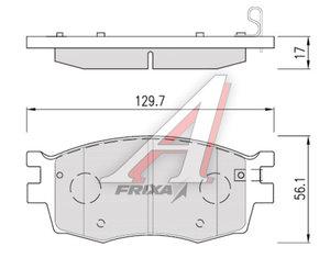 Колодки тормозные KIA Rio 3 (05-) передние (4шт.) HANKOOK FRIXA S1K01N, 58101-1GA00