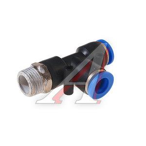 """Фитинг для пластиковых трубок 3/8"""" Т-образный 10мм с наружной резьбой ROCK FORCE RF-SPD10-03"""