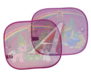 """Шторка автомобильная для боковых стекол 44х36см на присоске """"Лошадки Филли"""" 2шт. DISNEY FISAA010,"""