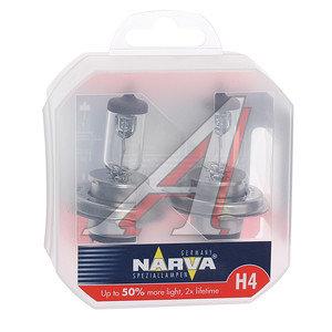 Лампа 12V H4 60/55W + 50% P43t бокс 2шт. Range Power NARVA 48861S2, N-48861RP2