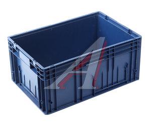Ящик полимерный многооборотный 594х396х280мм синий IPLAST IP-378844