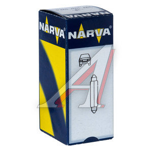 Лампа 12V C10W двухцокольная NARVA 17314, N-17314, АС12-10