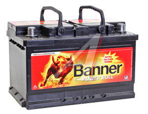 Аккумулятор BANNER Power Bull 72А/ч обратная полярность, низкий 6СТ72 P72 09, 84146