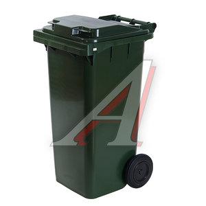 Контейнер мусорный 120л на колесах темно-зеленый 23.C29 IPLAST IP-364819