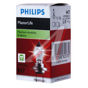 Лампа H7 24V 70W Master Life PHILIPS 13972MLC1, P-13972ML