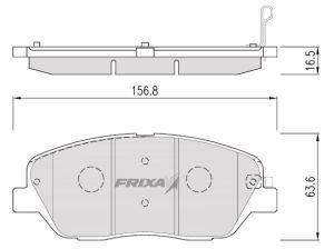 Колодки тормозные KIA Mohave (08-) передние (4шт.) HANKOOK FRIXA FPK26, 58101-2JA00