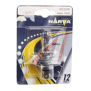 Лампа H4 12V 60/55W P45t-41 блистер NARVA 48884B1, N-48884бл