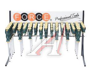 Набор отверток SL 3.0-SL8.0, PZ0-PZ3 силовых 75 предметов FORCE F-2752, 2752