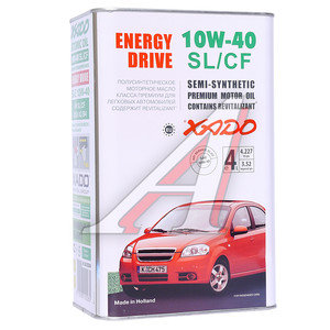 Масло моторное ATOMIC OIL ENERGY DRIVE SL/CF п/синт.4л ХАДО ХАДО SAE 10W40 ХА 20244, XA 20244