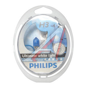 Лампа 12V H3 55W PK22s 5000K бокс (2шт.) Diamond Vision PHILIPS 12336DVS2, P-12336DV2, АКГ12-55-1 (H3)