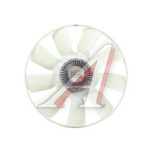 Вентилятор КАМАЗ-ЕВРО 704мм с вязкостной муфтой и обечайкой в сборе (дв.740.13,30,31) KORTEX 020004351, TR16373 9лоп