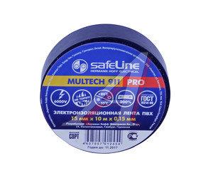 Изолента ПВХ черная 15ммх10м SAFELINE 9356, SAFELINE 15х10