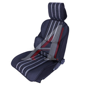 Накидка на сиденье массажная текстилная серая Deluxe CM-1064,