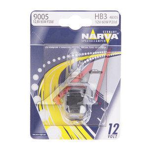 Лампа 12V HB3 60W P20d блистер (1шт.) NARVA 48005B1, N-48005бл