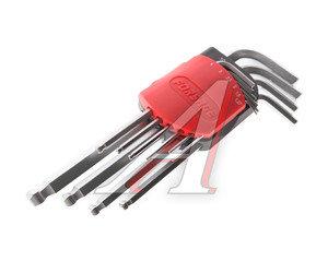 Набор ключей шестигранных 1.27-10мм удлиненных с шаром 10 предметов FORSAGE 5102LB, FS-5102LB