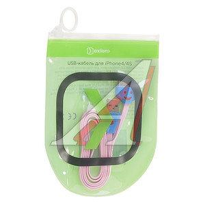Кабель iPhone (1-4S) 1м розовый OXION OX-DCC018PK
