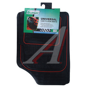 Коврик салона универсальный резина черный (4 предмета) GLIPART GT-34009