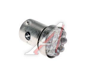 Лампа светодиодная 12V P10W Ba15s белая 9 светодиодов NORD YADA G18,5 (9LED), 900309, А12-10