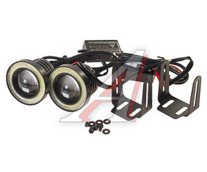 Фара противотуманная круглая светодиодная ходовые огни ангельские глазки D=64мм комплект PRO SPORT RS-10202