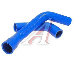 Патрубок ГАЗ-3302 дв.CUMMINS после 2012 г. радиатора комплект 2шт. синий силикон 3302-1303025-40, 3302-1303025-10