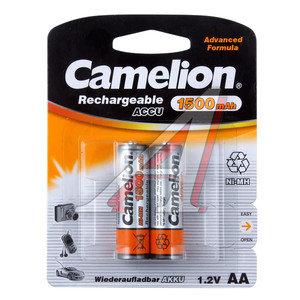 Батарейка AA HR6 1.2V аккумулятор Ni-MH 1500mAh блистер 2шт. CAMELION C-150AAKCбл