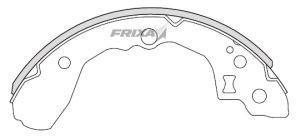 Колодки тормозные KIA Rio (04-) задние барабанные (4шт.) HANKOOK FRIXA FLK15N, 58315-FDA01