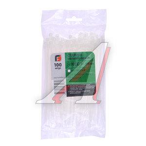 Хомут-стяжка 150х4.0 пластик белый (100шт.) FORTISFLEX 1004150, 49395