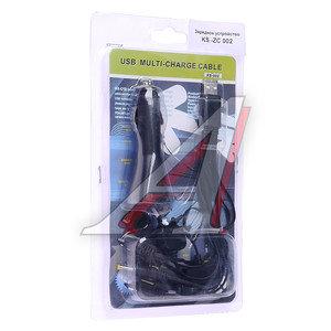 Устройство зарядное для телефона iPhone 1000mAh/USB/10 переходников KS-ZC002, KS-002,