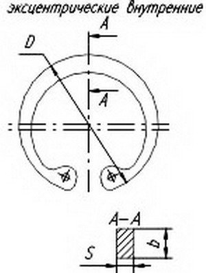 Кольцо ЗИЛ-5301 стопорное шкворня РААЗ 489301-П2
