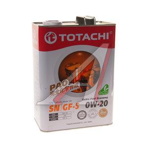 Масло моторное EXTRA FUEL SN синт.4л TOTACHI TOTACHI SAE0W-20