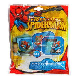 """Шторка автомобильная для боковых стекол 44х36см на присоске """"Человек-паук"""" 2шт. DISNEY SMSAA010"""