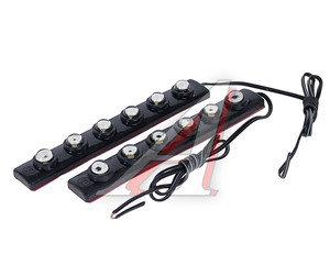 Огни ходовые дневного света LED 6 светодиодов с гибким корпусом 2шт. KS-HF406
