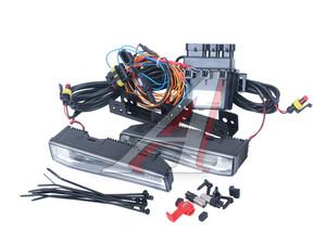 Огни ходовые дневного света LED 4 светодиода 12V 6000К 167х31мм комплект OSRAM 101DRL,