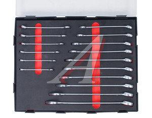 Набор ключей комбинированных 6-22мм 16 предметов в ложементе изгиб 15град. FORCE F-K5165