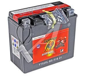 Аккумулятор BANNER Bike Bull 18А/ч 6СТ18 YTX20L-BS 518 901 026,