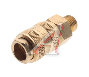 """Переходник для компрессора M1/4"""" быстросъемный с клапаном наружная резьба BSE1-2SM (код 6735), PN-BSE1-2SM"""